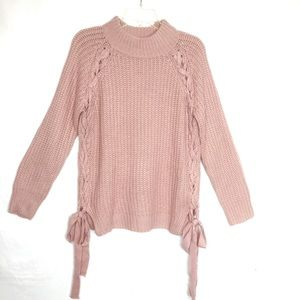 Sweet Rain Blush Pink Knit Sweater NWT